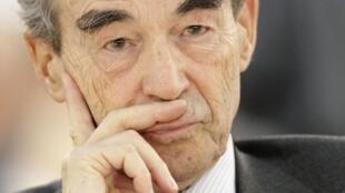 Robert Badinter, le 24 février 2010 à l'ouverture du 4e Congrès mondial pour l'abolition de la peine de mort à Genève le 24 février 2010.