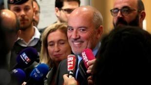 Stéphane Richard à sa sortie du tribunal correctionnel de Paris, le 9 juillet 2019.