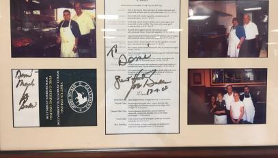 Des photos de Joe Biden au Claymont.