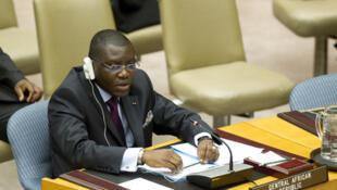 Charles-Armel Doubane, ancien ministre de l'Education nationale et ambassadeur de la RCA auprès de l'ONU, candidat à la présidentielle.