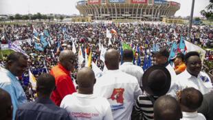 Mkutano wa vyama vya upinzani  Kinshasa,Aprili 24, 2016.