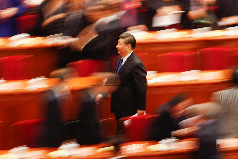 Chủ tịch Trung Quốc Tập Cận Bình tại Đại hội Chính Hiệp (CPPCC) ở Đại sảnh đường Nhân Dân, Bắc Kinh ngày 03/03/2018.
