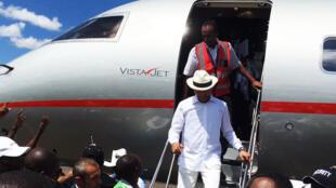 Moïse Katumbi lors de son retour à Lubumbashi en RDC après trois ans d'exil, le 20 mai 2019. (Photo d'illustration)