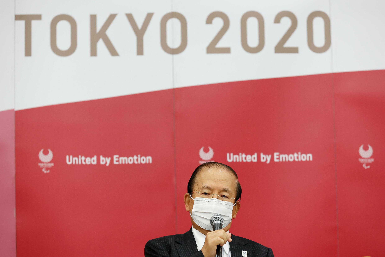 Le directeur général de Tokyo 2020, Toshiro Muto, lors d'une conférence de presse, le 16 août 2021 à Tokyo