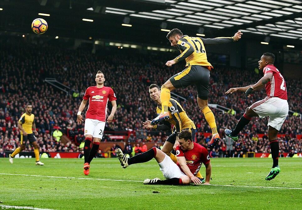 Manchester United ikichuana na Arsenal Jumamosi Novemba 19 2016 uwanjani Old Trafford