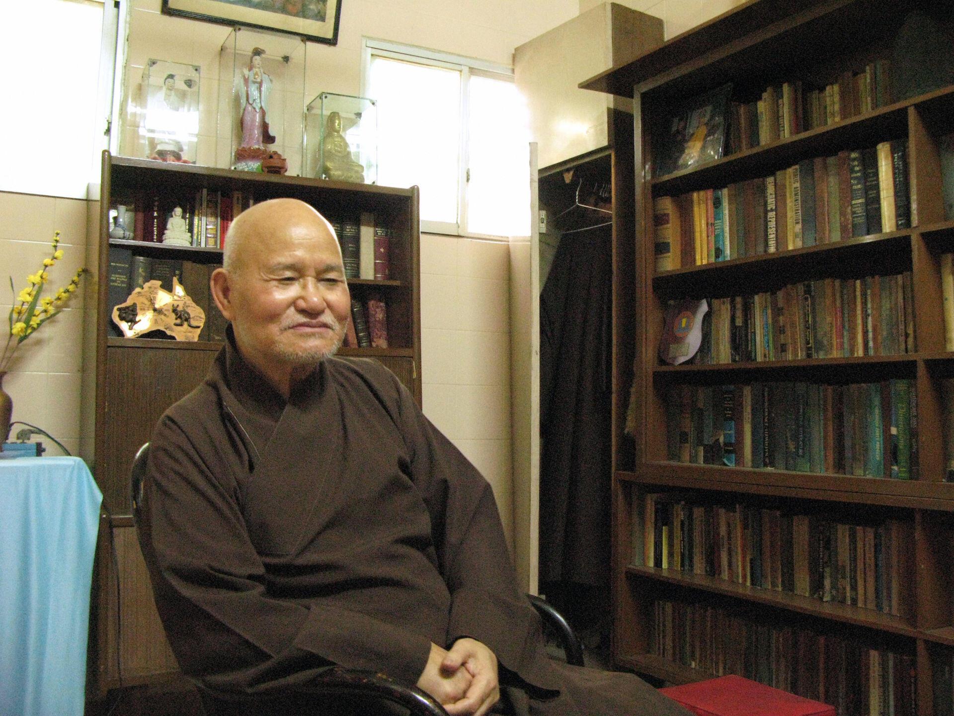 Hòa thượng Thích Quảng Độ tại Thanh Minh Thiền Viện-Việt Nam. Ảnh chụp năm 2007.