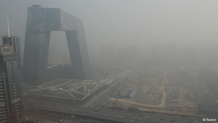 中國北京空氣污染2019年資料照片