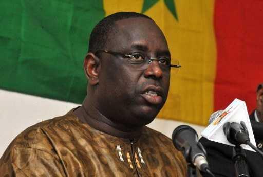 Macky Sall, février 2012, Dakar.