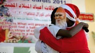 Un père Noël soudanais à Khartoum en 2011.