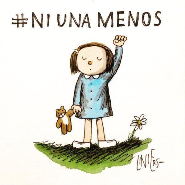La caricature du dessinateur Liniers pour le mouvement «Ni una menos»