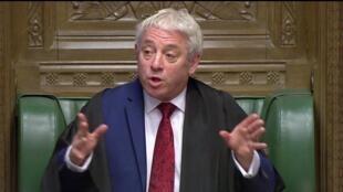 British Speaker of the house of Commons John Bercow on 19 October 2019