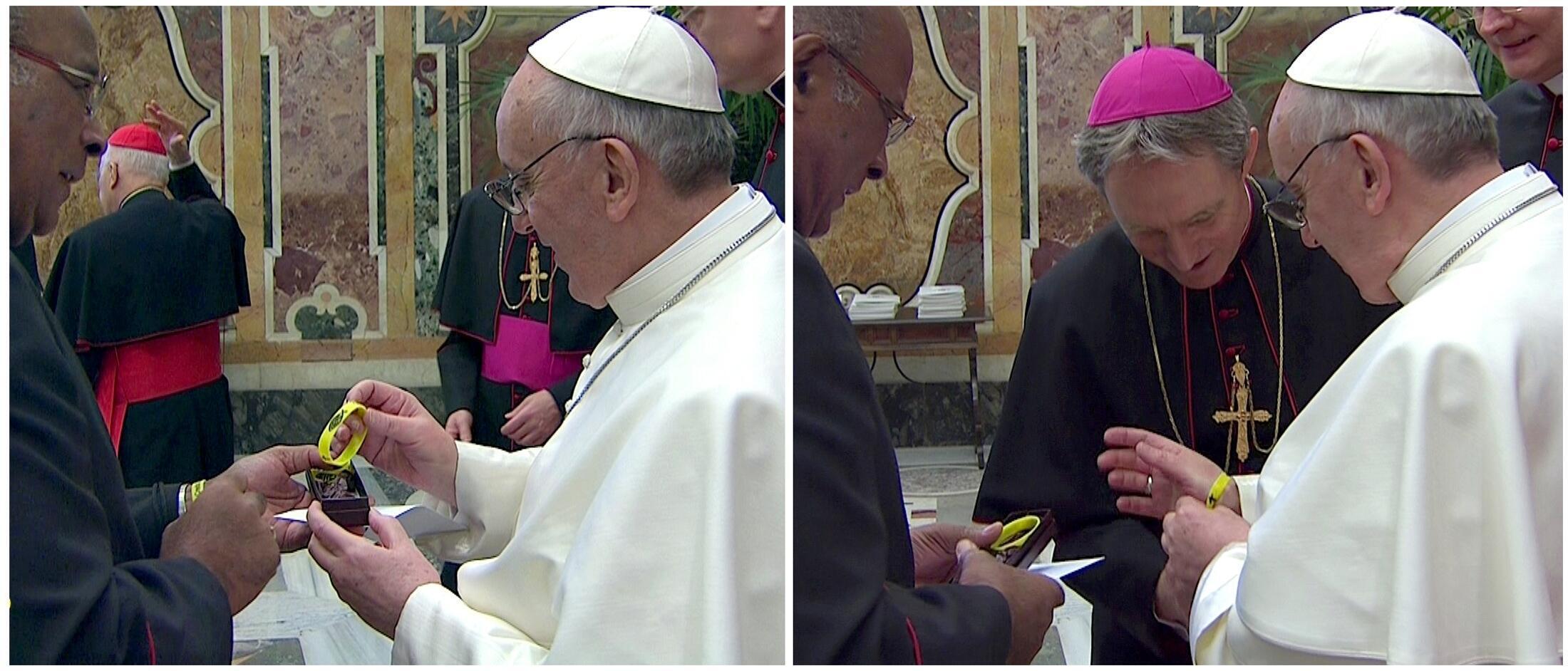 Уилфрид Напье и Папа римский Франциск 15 марта 2013, Ватикан