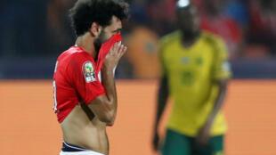 L'Égyptien Mohamed Salah en larmes après l'élimination prématurée de la CAN 2019, face à l'Afrique du Sud.