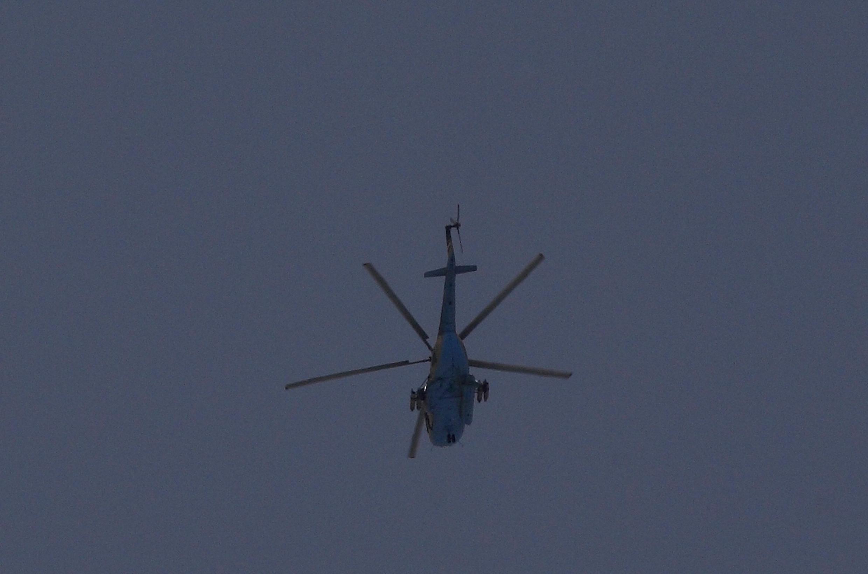 Вертолет сирийских ВВС над Алеппо