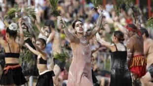 Des Aborigènes lors de la fête nationale australienne le 26 janvier 2020 (image d'illustration).