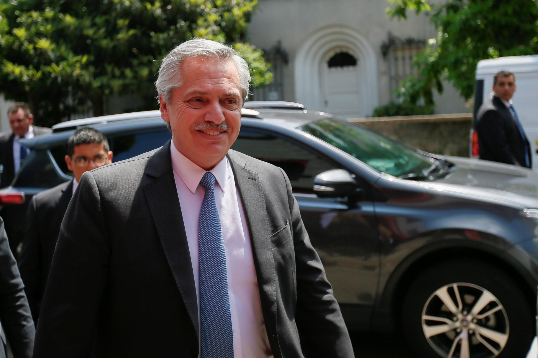 Alberto Fernandez le 14 novembre 2019 à Montevideo en Uruguay.