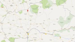 Kabo est situé à 440 km au nord de Bangui.