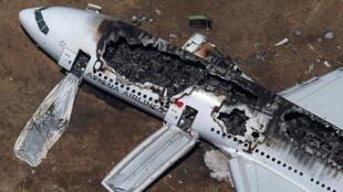 韩亚航空公司波音777飞机事故美国旧金山国际机场2013年7月6日。