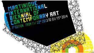 L'affiche de la première édition de la Biennale d'Art contemporain de la Martinique.