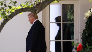 图为美国总统特朗普2018年9月6日于白宫。