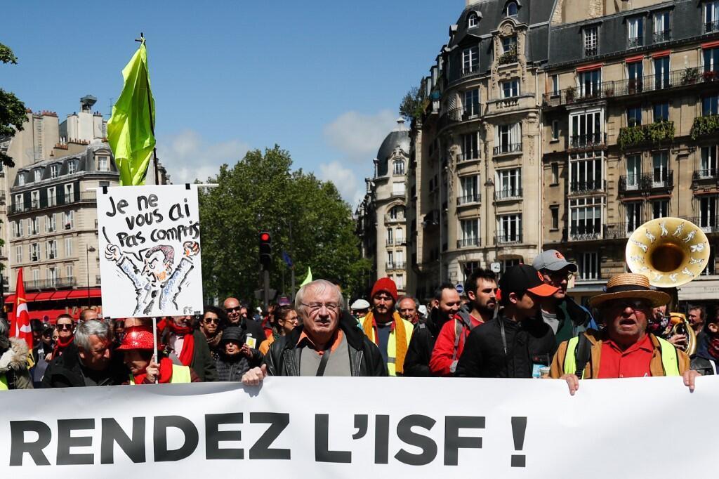 بیست و چهارمین شنبه تظاهرات جلیقه زردها در پاریس پایتخت فرانسه. شنبه ٧ اردیبهشت/ ٢٧ آوریل٢٠۱٩