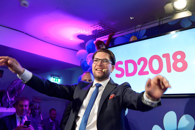 Лидер крайне правой партии «Демократы Швеции» Йимми Окессон