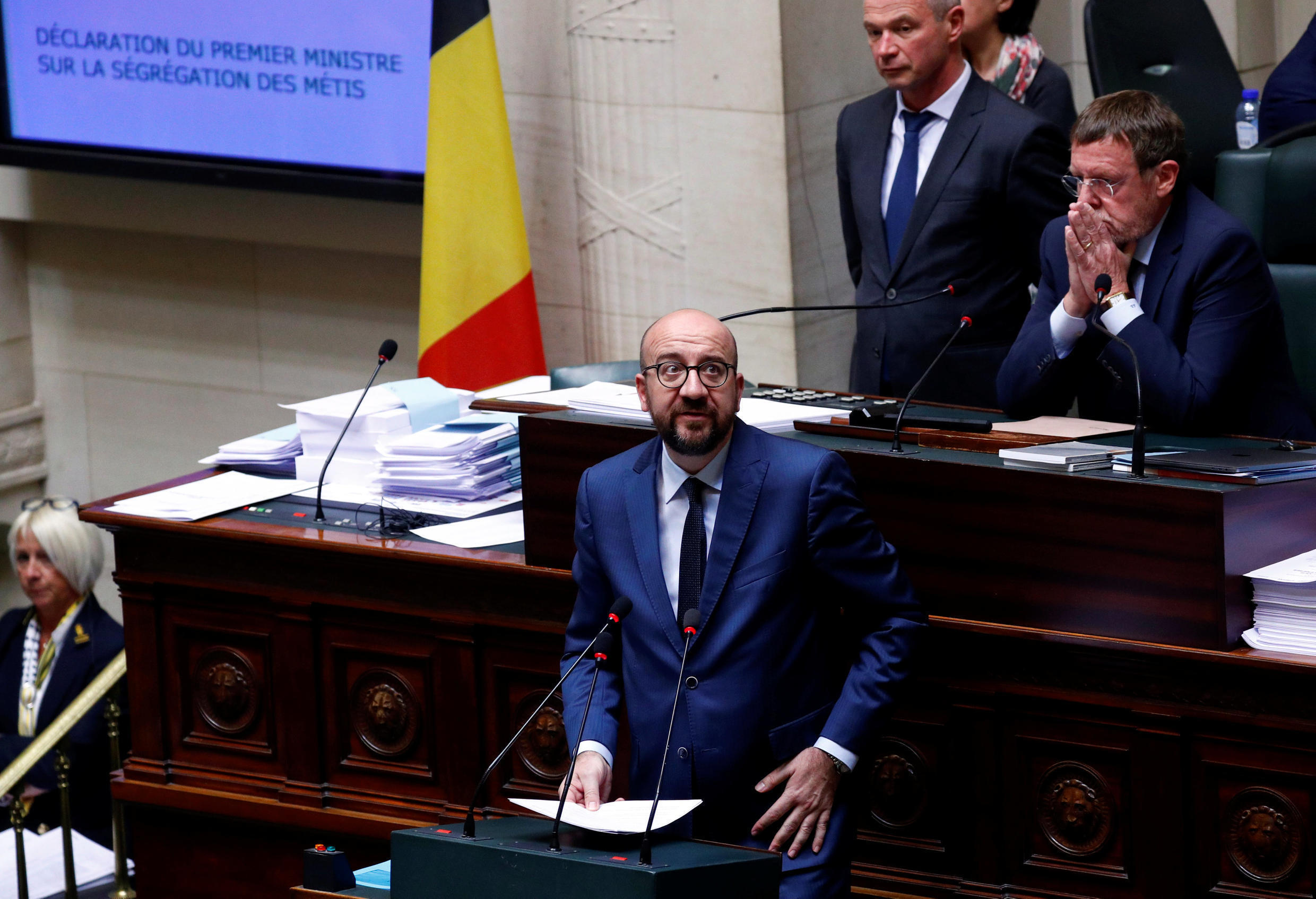 Belgium's Prime Minister Charles Michel appologises for the kidnapping of Metis children, April 4th 2019