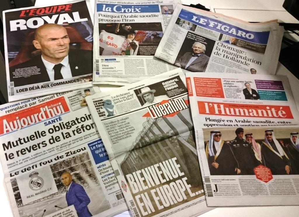 Diários franceses 05/01/2016