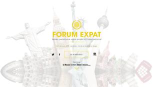 La page d'accueil du 6e Forum Expat qui s'est tenu cette semaine à Paris.