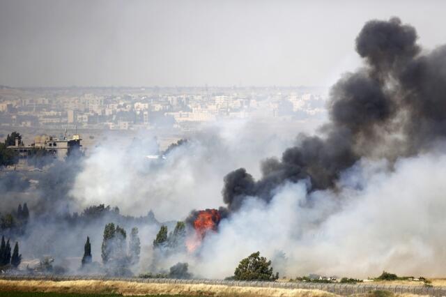 O exército sírio retomou o controle da passagem nas colinas de Golan entre a Síria e Israel, nesta quinta-feira, 6 de junho de 2013.
