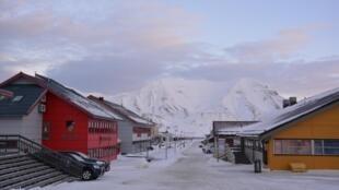 Centro de la ciudad de Longyearbyen, en el archipiélago noruego de Svalbard, en el océano Glacial Ártico.