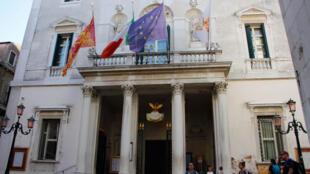 Façade de la Fénice de Venise.