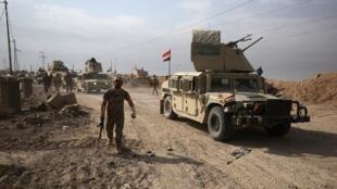 Forças iraquianas na cidade da Al Qaim
