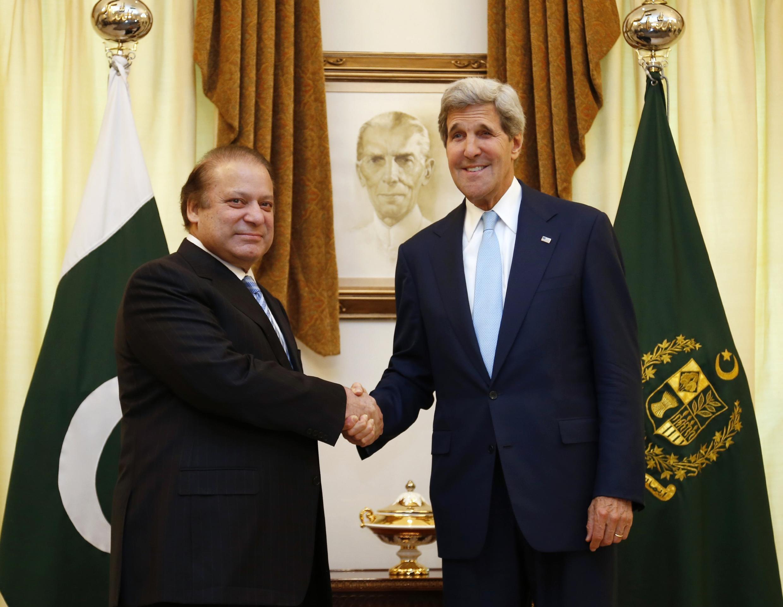 Nawaz Sharif et John Kerry à Islamabad le 1er août 2013.