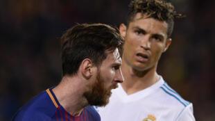 Shahararrun 'yan kwallo, Messi da Ronaldo.