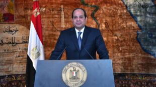 O Presidente do Egipto, Abdel Fattah al-Sissi.