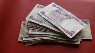 Le naira, monnaie du Nigeria.