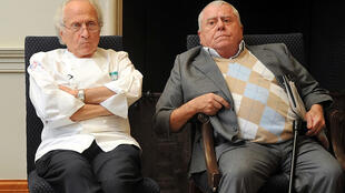 French chefs Albert Roux (R), and his brother Michel Roux, were at the forefront of a cookery revolution in Britain