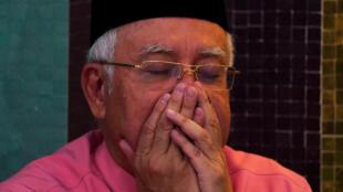 图为马来西亚刚刚下台首相纳吉