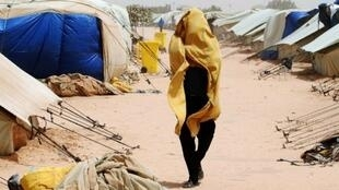 Réfugié dans le camp de Choucha à la frontière entre la Tunisie et la Libye, le 24 avril 2011.