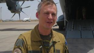 Commandant «Fabian» de l'escadron «Touraine» cette semaine à Ndjamena au Tchad.