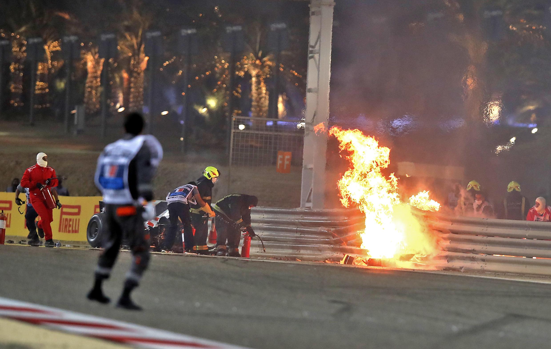 Grosjean survived a horrific crash