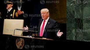 美国总统特朗普9月25日在联大发言