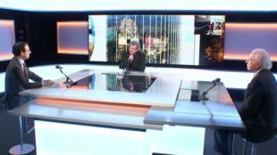 Marc Bassets, ex corresponsal del diario El País en Washington (izquierda) y Alan Riding, ex corresponsal del New York Times en México invitados de Primera Plana. Paris, 22 enero 2021