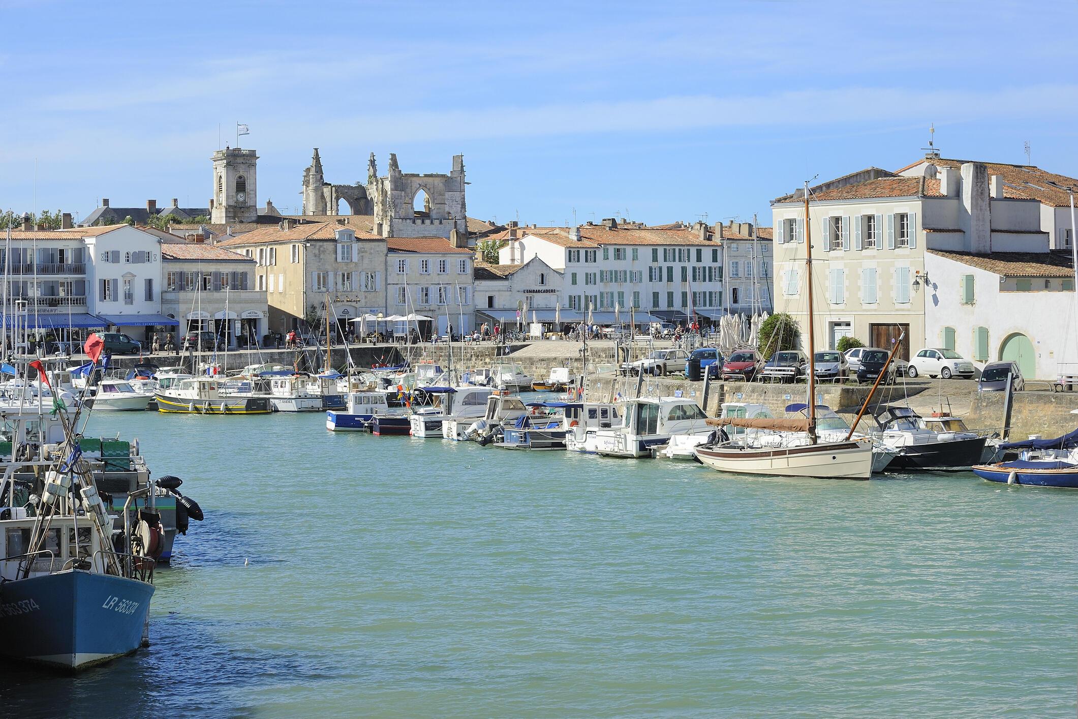 Le port de Saint-Martin-de-Ré, sur l'île de Ré.