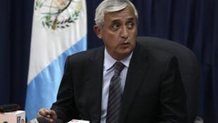 El general retirado Otto Pérez del Partido Patriota, presidente electo de Guatemala.