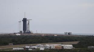 La fusée de SpaceX sur la base de Cape Canaveral, en Floride, le 27 mai 2020.
