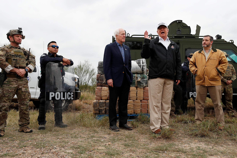 Tổng thống Donald Trump tại bang Texas, gần biên giới Meehicô, 10/01/2019.