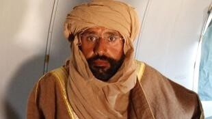 Seif al-Islam Kadhafi, le 19 novembre 2011, quelques heures après son arrestation.