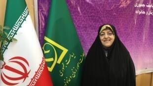 La vice-présidente iranienne Massoumeh Ebtekar, en charge des Femmes et de la Famille dans le gouvernement du président Rohani.